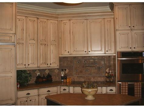 Refinished cabinets: Nantucket white with van dyke brown