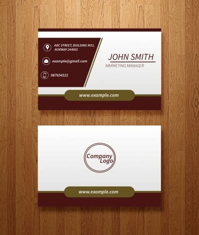 front and back business card template illustrator vector business card template vectors stock in adobe