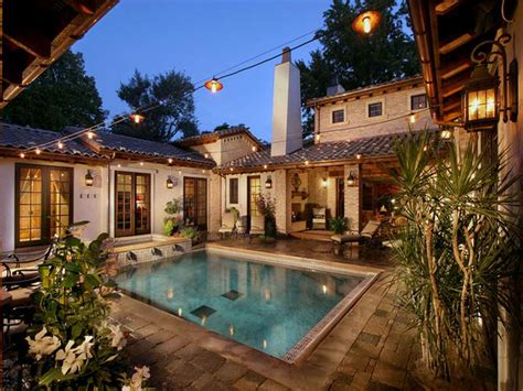 mediterranean house plans with pool 1000 images about dream homes my dream home on pinterest