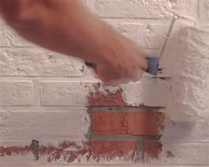 Peindre Des Briques De Cheminée : comment peindre un mur de briques peinture et couleur d 39 int rieur et d 39 ext rieur id es ~ Farleysfitness.com Idées de Décoration