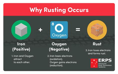 rust oxidation rusting iron state decrease electrons gain erps reduction process occurs oxygen