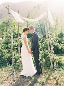 outdoor wedding ceremony backdrop ideas belle chic With simple wedding ceremony ideas