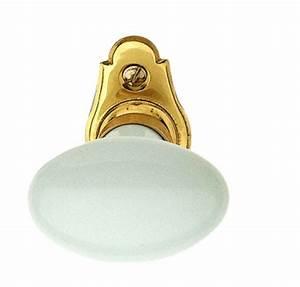 Poignée De Porte En Porcelaine Blanche : bouton de fen tre en porcelaine blanche et laiton poli ~ Edinachiropracticcenter.com Idées de Décoration