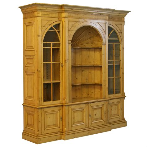 bookcase with storage cabinet large english pine bookcase display cabinet for sale at