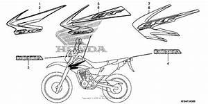 Mark   Stripe For 2009 Honda Crf230
