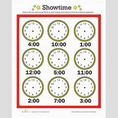 Time To The Hour  Worksheet Educationcom