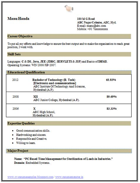 Hobbies For Curriculum Vitae by 10000 Cv And Resume Sles With Free Professional Curriculum Vitae