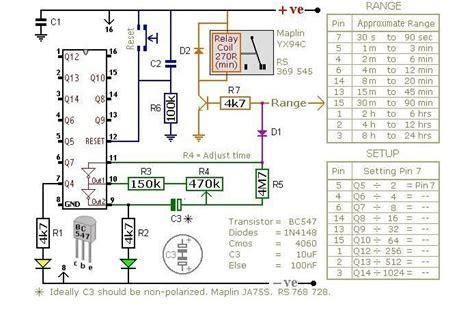 skema rangkaian timer menggunakan ic 4060b delta