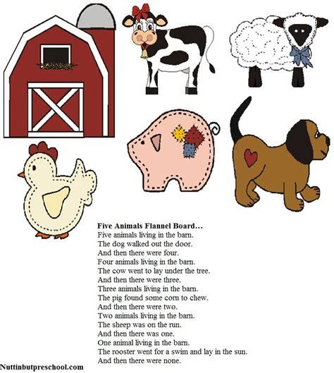 felt board patterns five animals flannel board nuttin 712 | c43d9f8114363b56492d44ad00909760