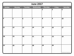 June 2017 Calendar Printable Template PDF Holidays ...