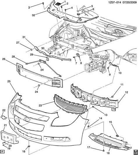 Chevy Front End Part Diagram by 09 Chevy Malibu Parts Diagram Downloaddescargar