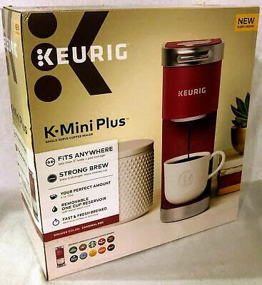It comes in cardinal red, evening teal, matte black, and note: Keurig K-Mini Plus Cardinal Red Single Serve K-Cup Pod Coffee Maker 611247373095 | eBay