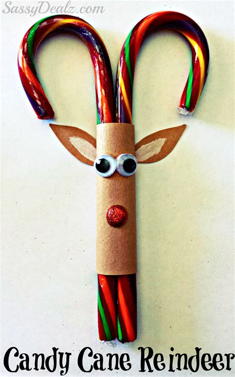 candy cane reindeer christmas craft or treat for kids crafty morning