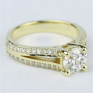 Split Shank Ring Setting With Super Ideal Round Diamond