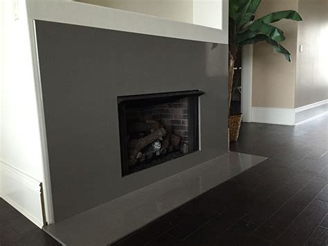 gray expo quartz fireplacejpg