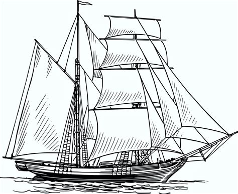 How To Draw A Water Boat by Boat In Water Drawing At Getdrawings Free For