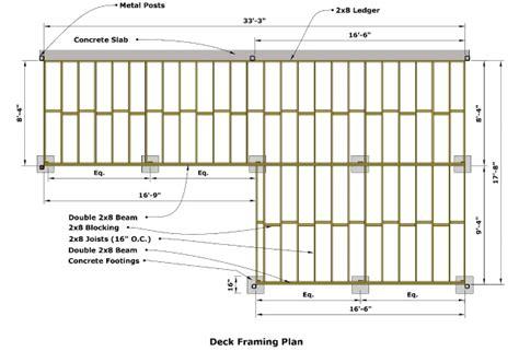 how far can a deck beam span homebuilding cedar deck designing and building a deck using western