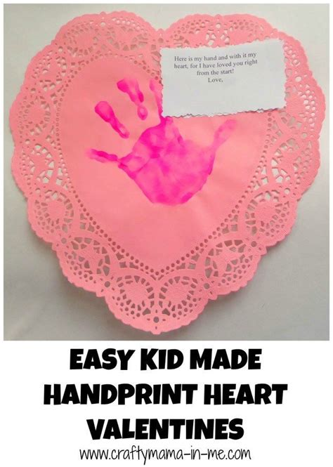 Easy Kid Made Handprint Heart Valentines Heart