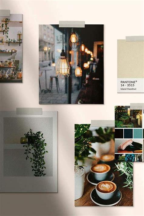 industrial style inspired moodboard coffee shop branding