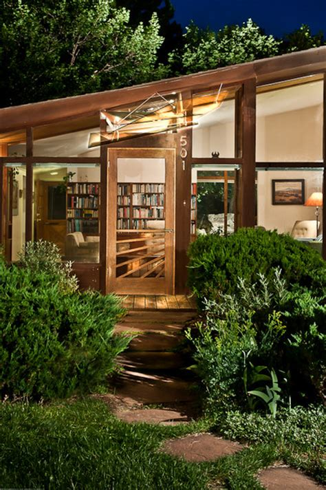 art glass awning  mid century modern ranch house