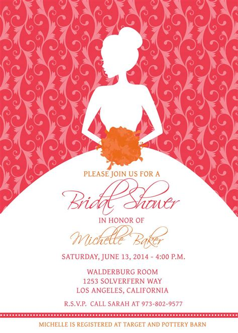 Bridal Shower  Bridal Shower Invitations Samples Card