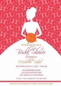Bridal shower bridal shower invitations samples card for Wedding shower invite template