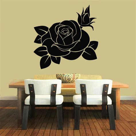 Wall Vinyl Sticker Decals Art Mural Decor Rose Flower. Floral Wall Decor. Small Beach House Decor. Decorative Storage Lockers. Hotel Rooms Nashville Tn. Speakers For Room. Decorative Tea Tins. Barbie Room. Living Room Bars