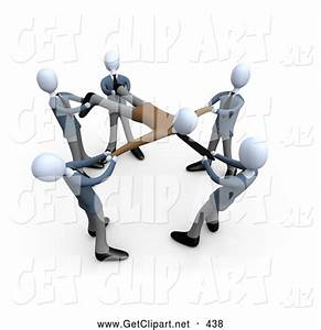 3d Clip Art of a Group of Businessmen Pulling a Client ...