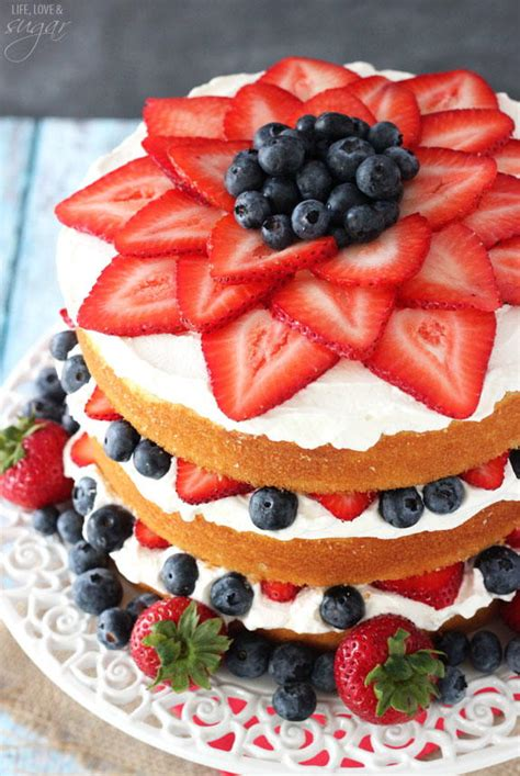 fresh berry vanilla layered cake recipelioncom