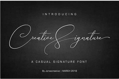 creative signature font uxfreecom