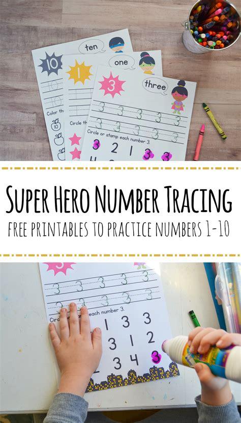 preschool number worksheets numbers 1 10 199 | super hero number worksheet 1 pin