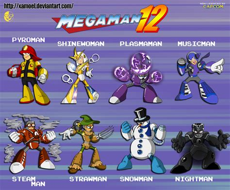 How To Continue Mega by Megaman 12 The 8 Robot Masters By Xamoel On Deviantart