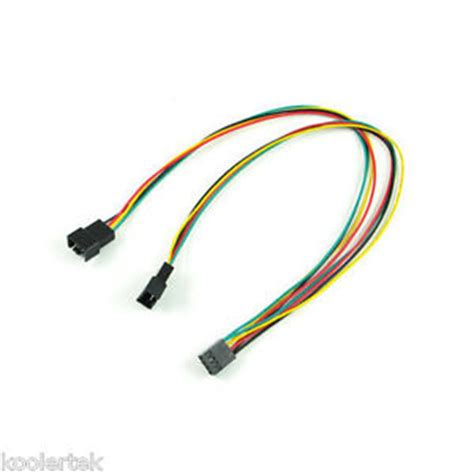 cpu fan adapter cable 4 pin pwm y splitter dual adapter computer pc case