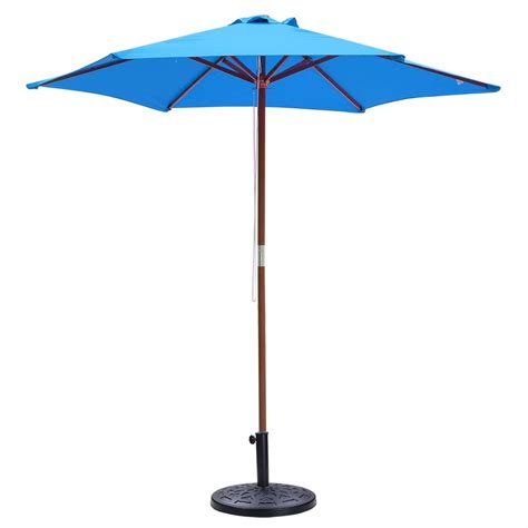 patio outdoor cantilever offset umbrella base stand fan