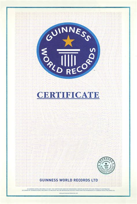 Guinness World Record Certificate Template world records an alternative view