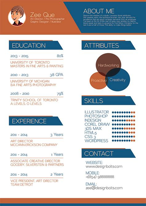 resume for graphic designers free resume cv template mock up psd for graphic designers