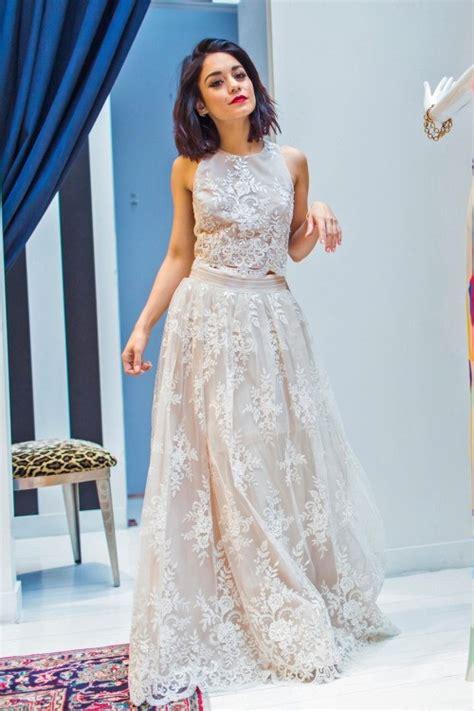 vanessa hudgens inspired white lace  piece celebrity dress