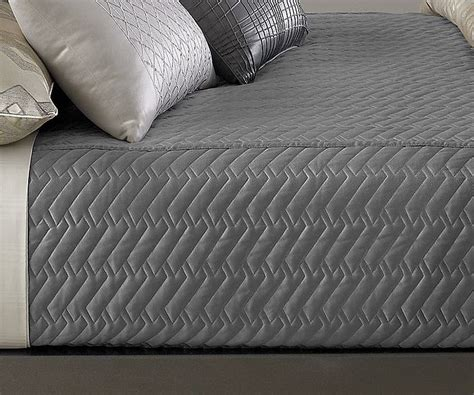 Quilted Coverlet by Hotel Collection Eifel Quilted Coverlet Quilted Silver