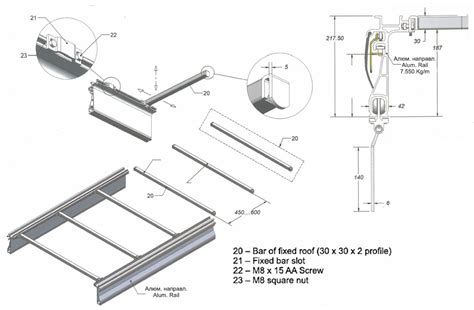aluminium doors side boards and roof systems