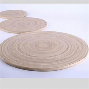 Holzplatte Rund 50 Cm : runde bambus natur holzplatte im deko shop ~ Buech-reservation.com Haus und Dekorationen