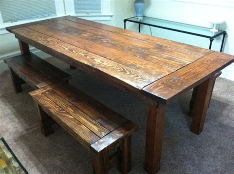 farmhouse table with bench white farm house table and benches diy projects