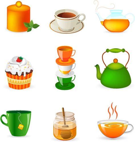 tea cup cartoon  vector    vector
