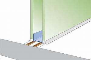 quelles cloisons pour pieces humides solutions platrerie With porte d entrée alu avec traitement humidité salle de bain