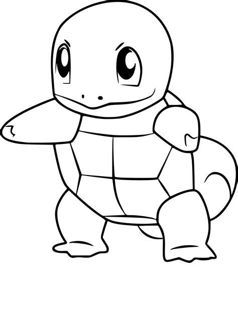 Coloriage Carapuce Pokemon Go à Imprimer