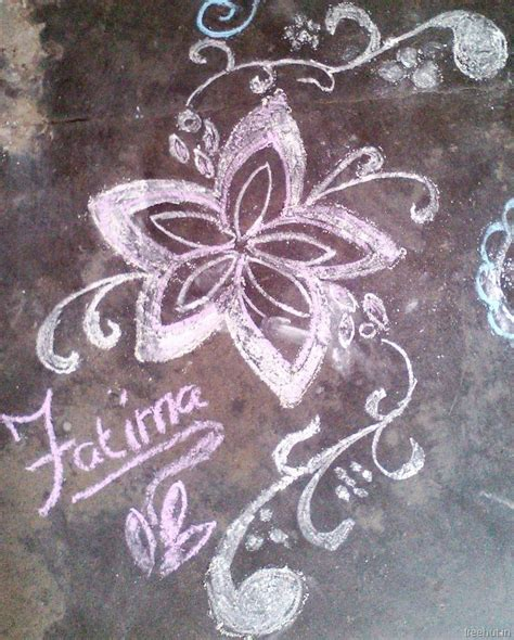 rangoli designs  chalk