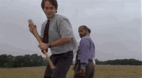 Office Space Smashing Printer by Office Space Gif Find On Giphy