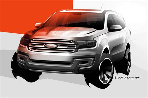 Ford Everest Concept Suv Sketch Photo 3