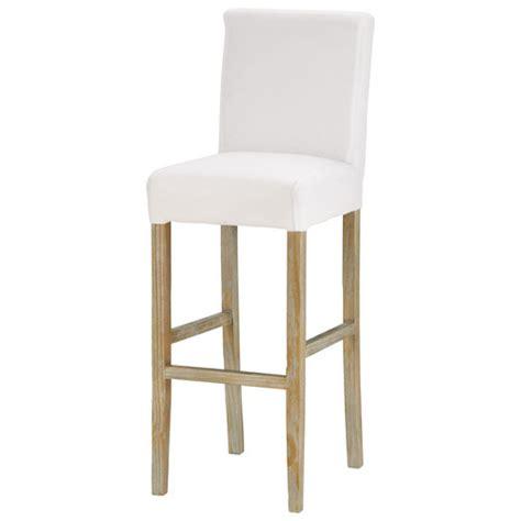 chaise de bar blanche chaise de bar en tissu et bois massif blanche boston