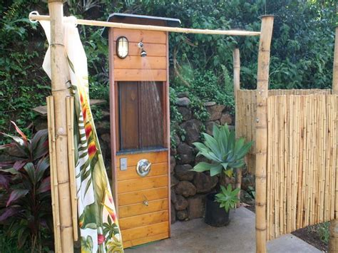 Building An Outdoor Bathroom Planning Ideas Simple Outdoor Shower Plans How To