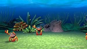 Cartoon Crab 6 Leg Playing Walking Running, Water Waves ...